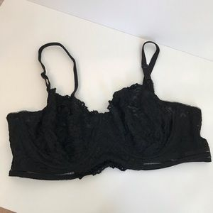 Joan Smalls Smart & Sexy Black Lace Bra 42C